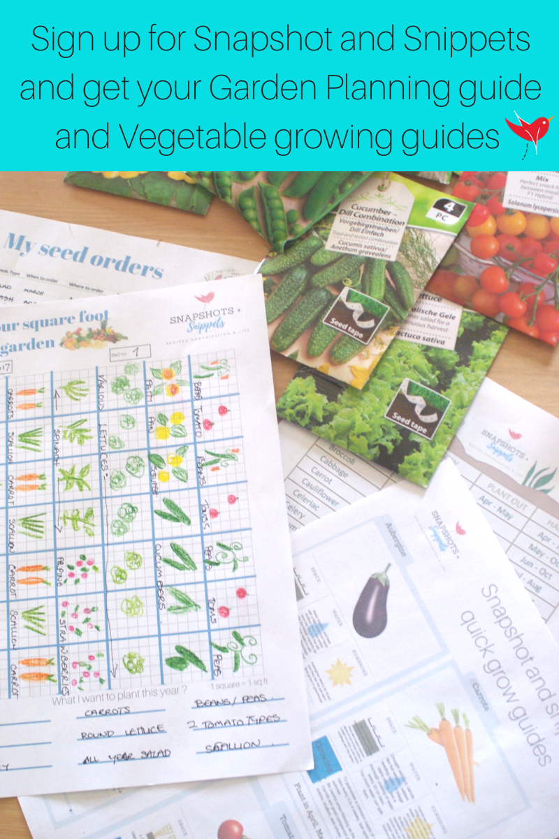 Sign up for Snapshot and Snippets and get your Garden Planning printables and growing guides
